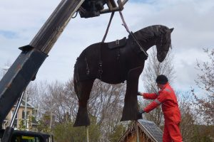 The Horse arrives in Boat of Garten!